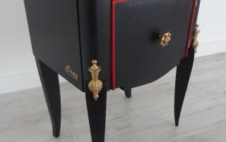 gueridons modernes noir et rouge